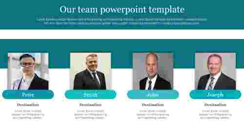 Best our team powerpoint template for business presentation
