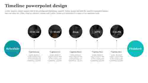 Business timeline powerpoint design
