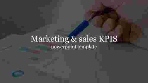 MarketingandsalesKPISpowerpointtemplateforintroduction