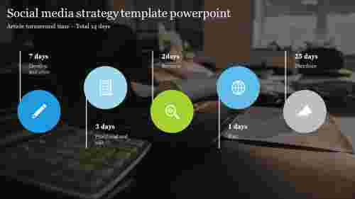 Creative social media strategy template powerpoint