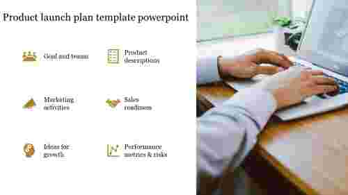 Product launch plan template powerpoint with icons
