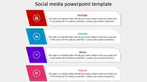 Infographics model Social media powerpoint template