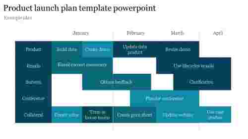 Product launch plan template powerpoint with months