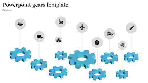 Logistics powerpoint gears template