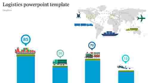 Graphics logistics powerpoint template