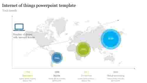 Internet of things powerpoint template with map