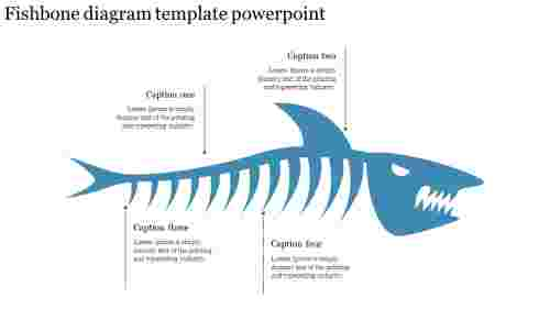 Creative fishbone diagram template powerpoint