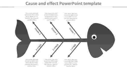 Cause and effect powerpoint template with arrow model
