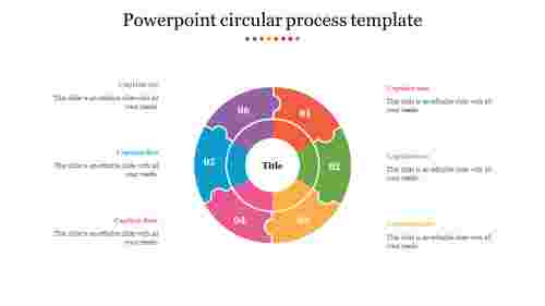 Puzzle powerpoint circular process template