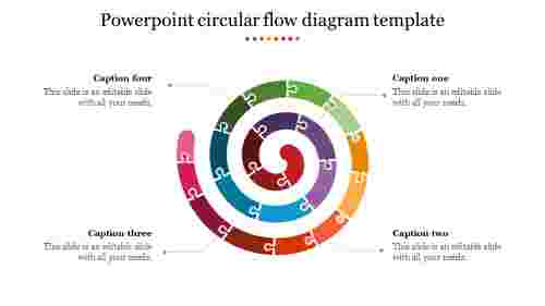 Puzzle powerpoint circular flow diagram template