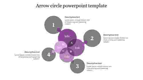 Creative Arrow circle powerpoint template