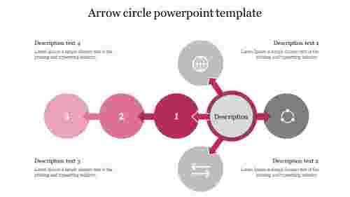 Flow of Arrow circle powerpoint template