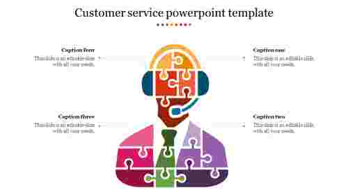 Customer service powerpoint template - Puzzle model