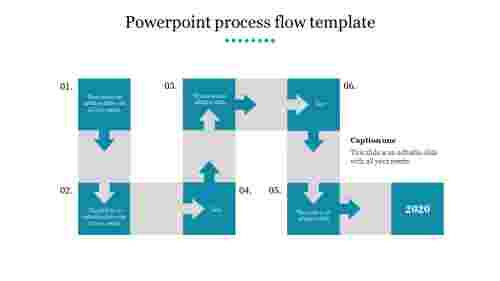Creative powerpoint process flow template