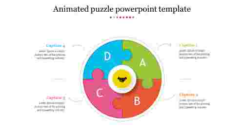 Best animated puzzle powerpoint template