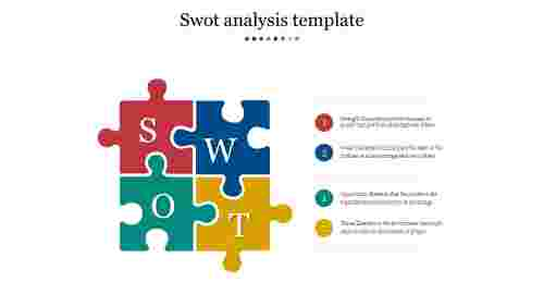 Puzzle swot analysis template