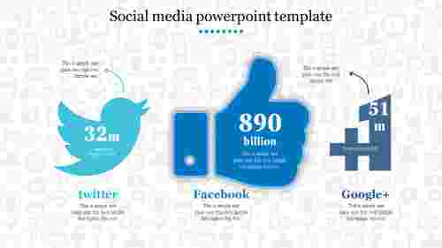 Creative social media powerpoint template
