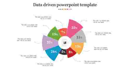 Creative data driven powerpoint template