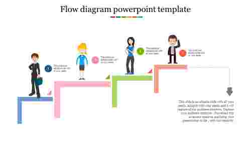 Silhouette Flow diagram powerpoint template