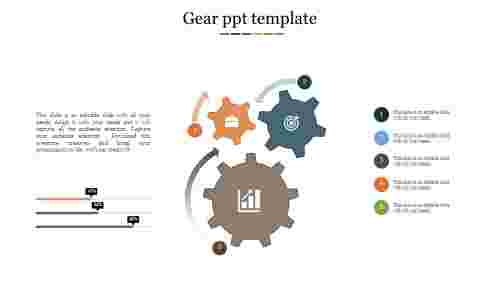 Gear PPT template for business