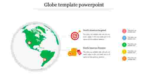 Globe template powerpoint for marketing business
