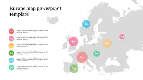 Animated Europe map powerpoint template