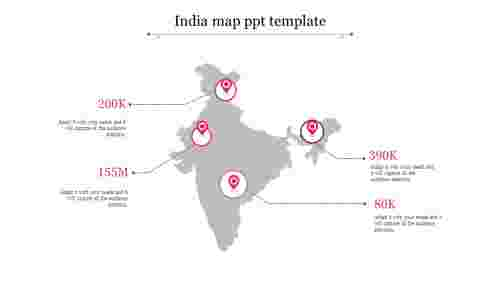 Animated india map PPT template