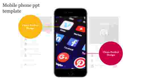 mobile phone ppt template