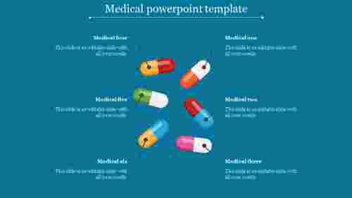 Medical powerpoint template with tablets diagram