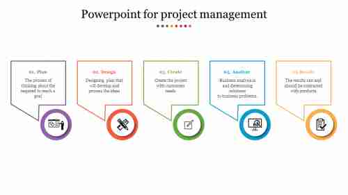 Creative Powerpoint for project management with icons
