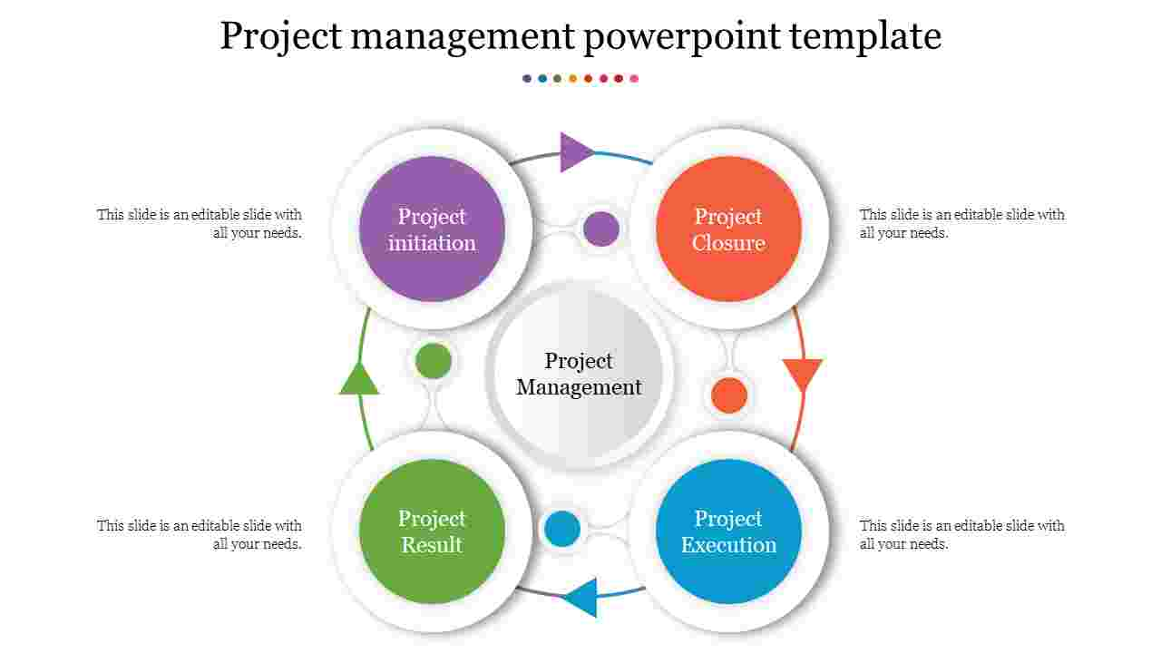 Infographic Project management powerpoint template