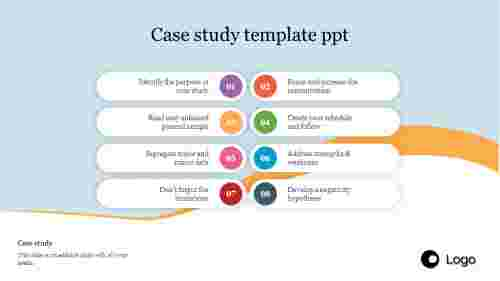 Case study template ppt