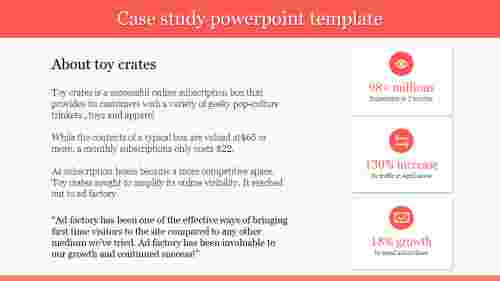 Toy crates case study powerpoint template