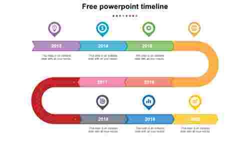 free powerpoint timeline slide