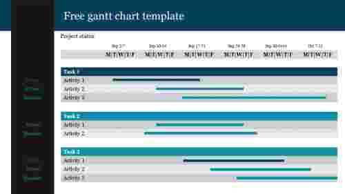 Free gantt chart powerpoint template