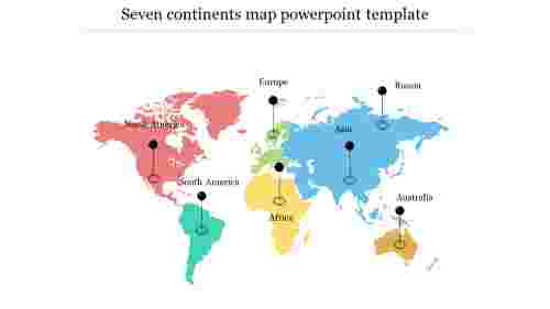 Creative%20Seven%20Continents%20Map%20PowerPoint%20Template