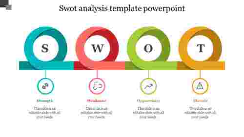 Infographic SWOT analysis template powerpoint
