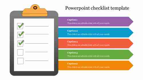 Arrow powerpoint checklist template