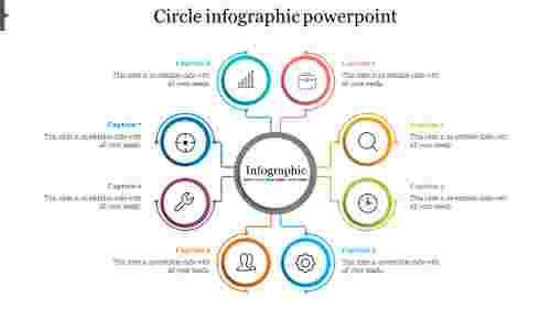 Editable Circle Infographic PowerPoint Presentation Template