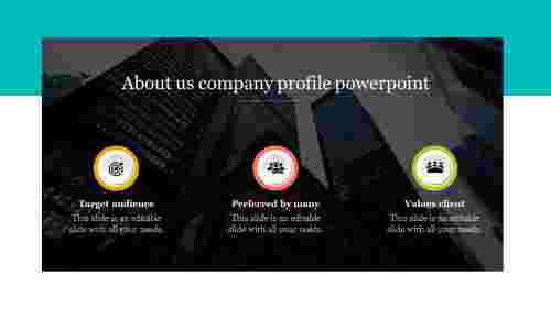 Simple about us company profile PowerPoint- Dark Background