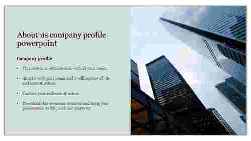 Visionary about us company profile powerpoint