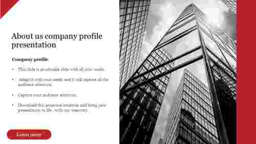 Best About us company profile presentation slide
