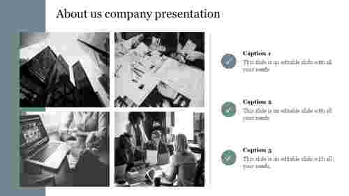 Creative about us company presentation