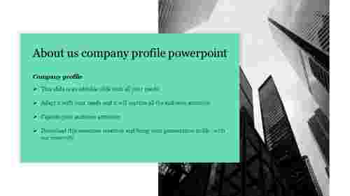 Simple about us company profile powerpoint