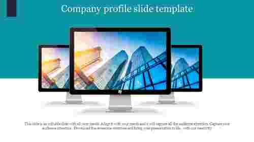 Creative company profile slide template