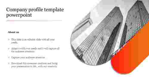 Creative company profile template powerpoint
