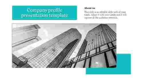 Editable company profile presentation template
