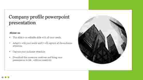 Creative company profile powerpoint presentation