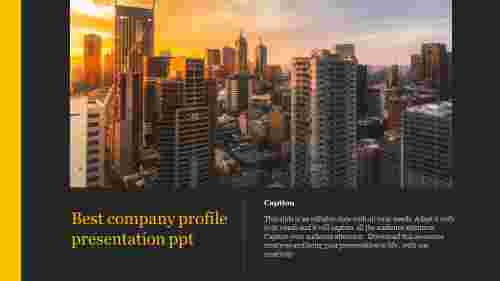 best company profile presentation ppt template