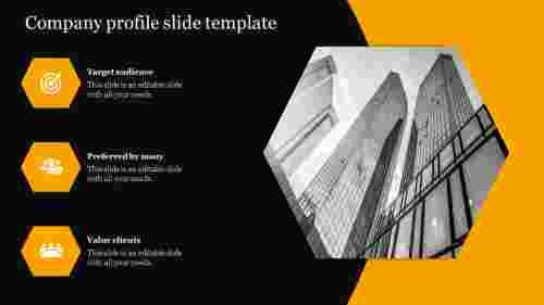 Best company profile slide template designs